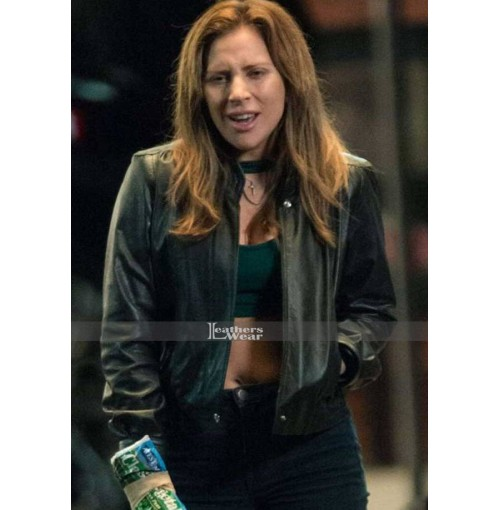 Lady Gaga Ally A Star is Born Black Leather Jacket