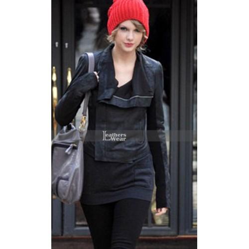 Taylor Swift Rick Owens Biker Leather Jacket