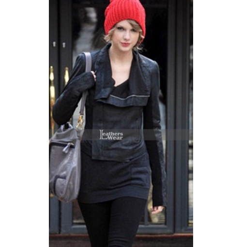 Taylor Swift Rick Owens Biker Leather Jacket
