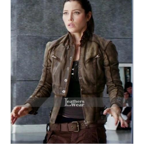 Total Recall Jessica Biel (Melina) Brown Jacket