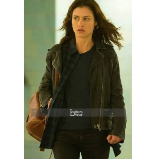 Hitman Agent 47 Hannah Ware (Katia Van Dees) Black Leather Jacket