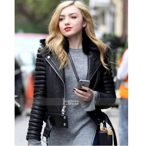 Peyton List Black Bomber Ladies Jacket