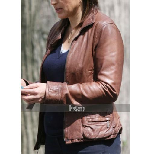 Law & Order SVU Olivia Benson (Mariska Hargitay) Leather Jacket