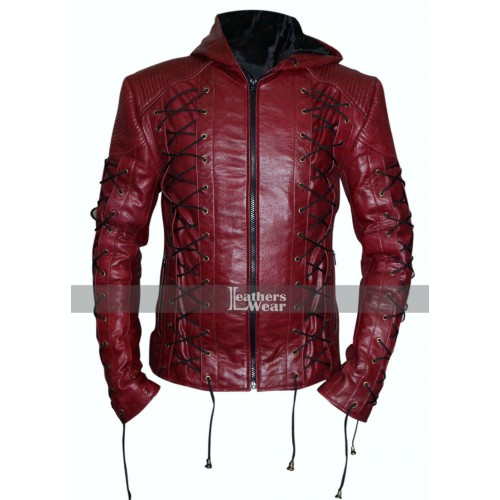 Colton Haynes Arrow Season 3 Roy Harper Costume Jacket