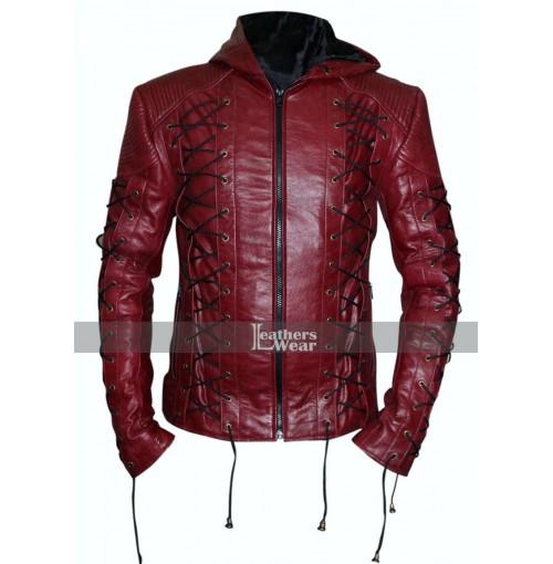 Colton Haynes Arrow Season 3 Roy Harper Costume Jacket
