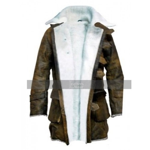The Dark Knight Rises Bane Real Leather Coat Costume