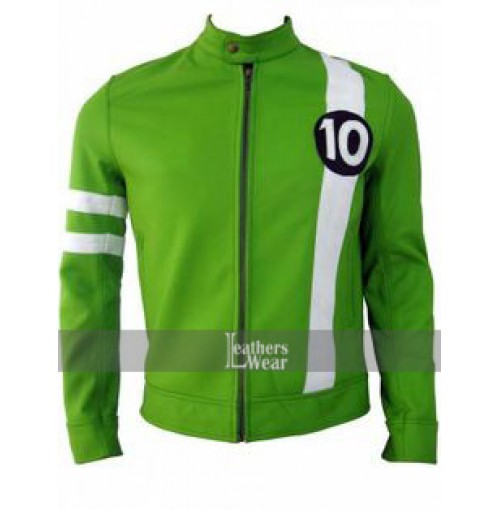 Ben 10 Alien Swarm Ryan Kelley Green Leather Jacket