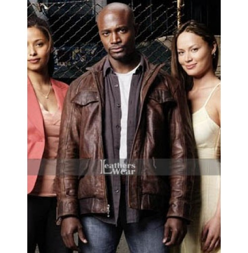 Day Break Taye Diggs (Brett Hopper) Brown Jacket