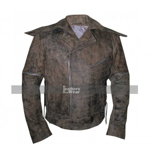 Mad Max Fury Road Tom Hardy Brown Distressed Leather Jacket