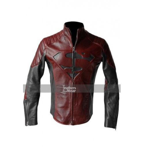 Man of Steel Superman Red and Black Jacket Costume
