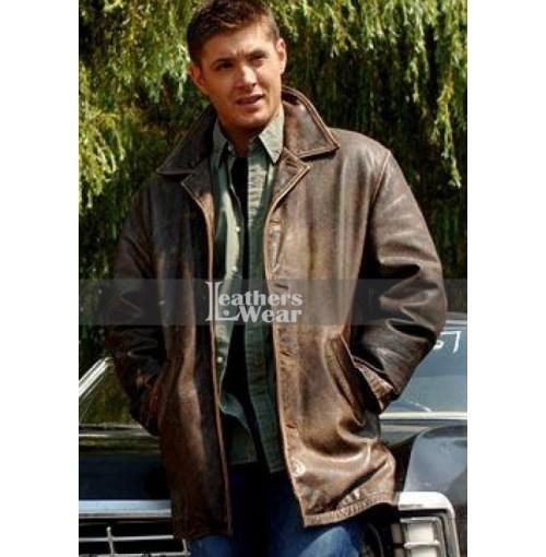 Supernatural Jensen Ackles (Dean Winchester) Distressed Leather Jacket