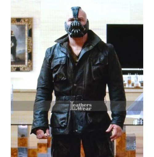 Dark knight Rises Bane Black Coat Costume