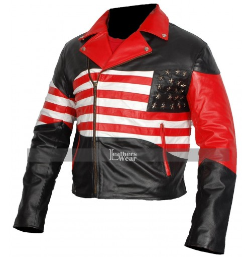 American Flag Mens Independence Day Jacket