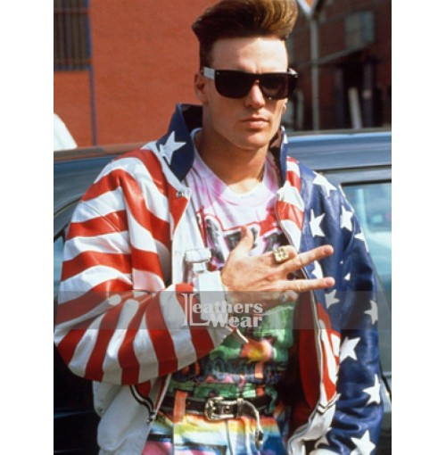 Vanilla Ice American Flag Leather Jacket