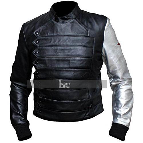 Captain America Winter Soldier Bucky Barnes Jacket Costume