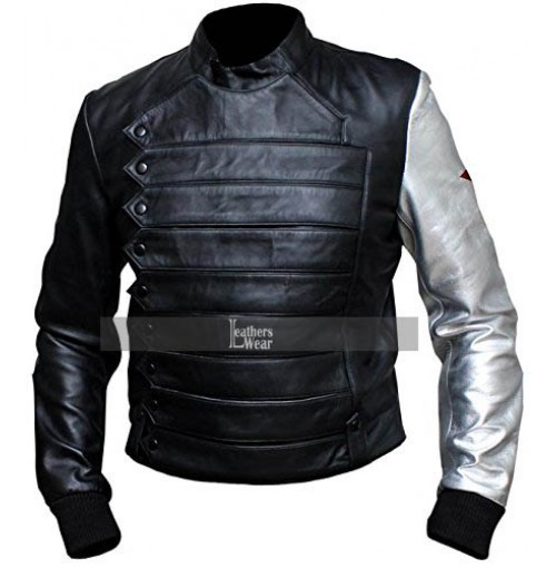 Captain America Winter Soldier Bucky Barnes Jacket Costume
