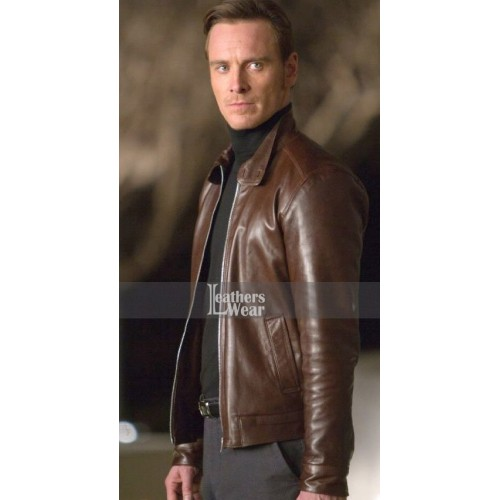 X-Men First Class Michael Fassbender (Magneto) Brown Jacket
