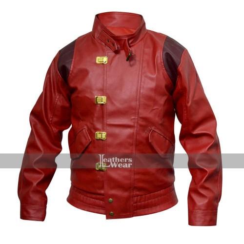 Akira Kaneda Pill Capsule Red Motorcycle Jacket