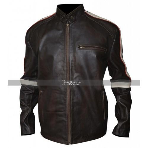 Belstaff Hero Bison Brown Leather Jacket