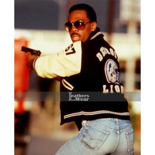 Beverly Hills Cop Axel Foley Detroit Lions Letterman Jacket