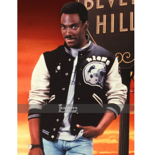 Beverly Hills Cop Axel Foley Detroit Lions Letterman Jacket