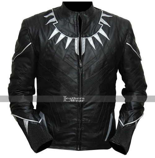 Black Panther Black Leather Jacket