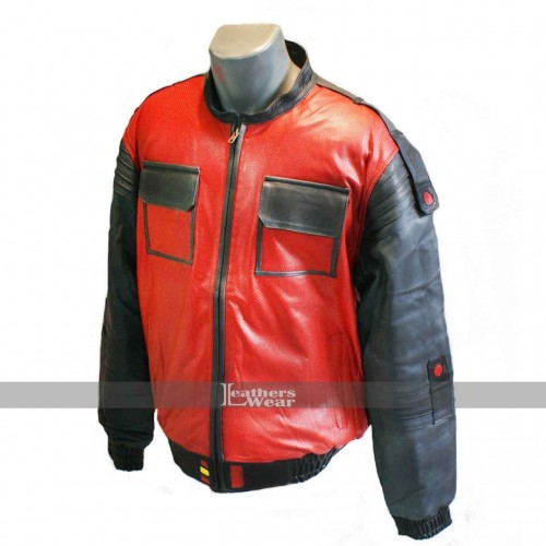 BTTF Back To The Future 2 Marty Mcfly 2015 Leather Jacket