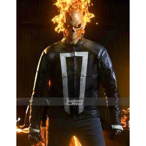 Agents Of Shield Ghost Rider Robbie Reyes Black Jacket