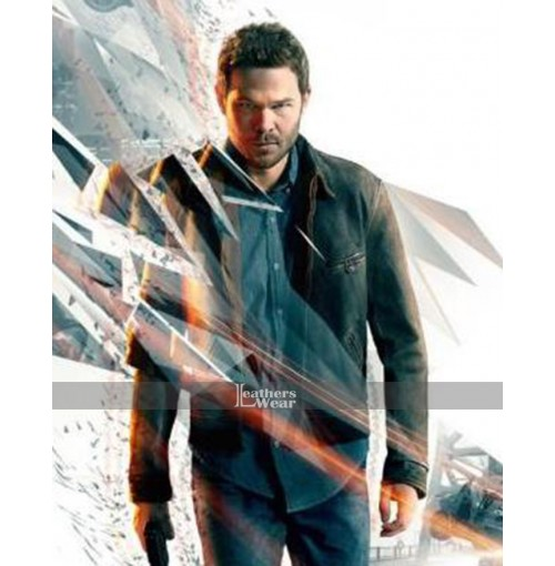 Game Quantum Break Shawn Ashmore Black Jacket