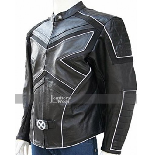 X-MEN 3 ICEMAN Motorcycle Leather Jacket