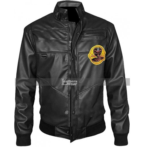 Cobra Kai Black Bomber Jacket
