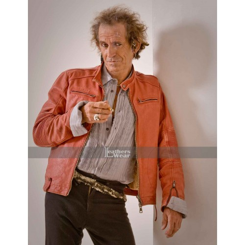 Keith Richards Concert Tour Red Leather Jacket