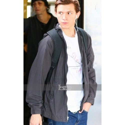 Tom Holland Spiderman Homecoming Peter Parker Hooded Jacket