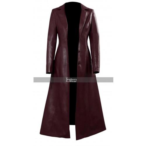 X-Men Dark Phoenix Sophie Turner Maroon Coat