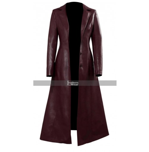 X-Men Dark Phoenix Sophie Turner Maroon Coat