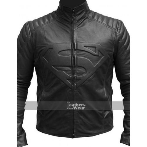 Superman Smallville Black & Red Leather Jacket