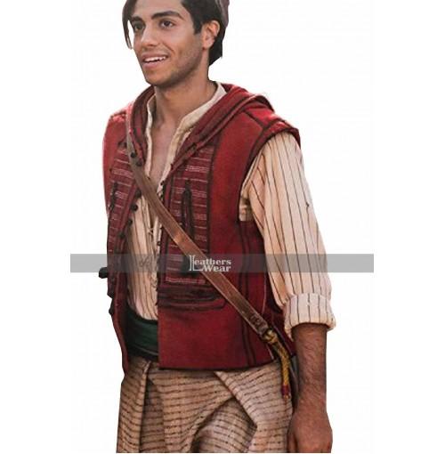 Aladdin 2019 Mena Massoud Red Vest