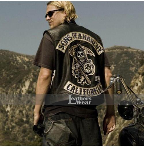 Sons Of Anarchy Charlie Hunnam (Jax Teller) Biker Vest