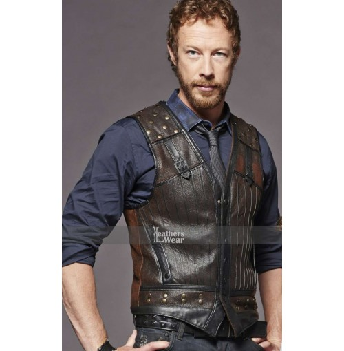 Kris Holden Ried Lost Girl Dyson Thornwood Leather Vest