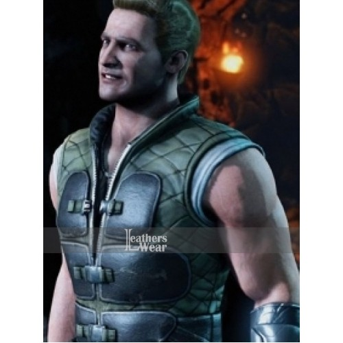 Mortal Kombat X (Johnny Cage) Quilted Leather Vest