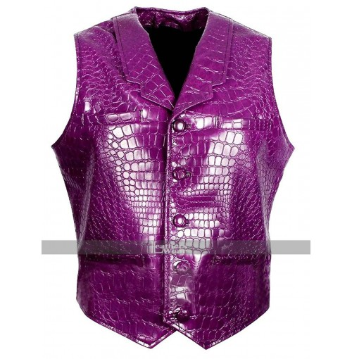 Suicide Squad Jared Leto (Joker) Crocodile Texture Purple Vest