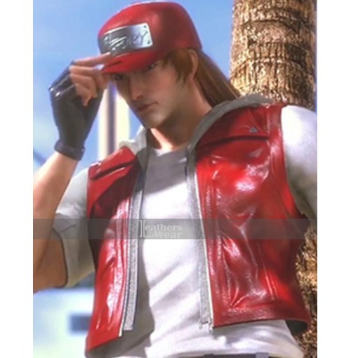 Terry Bogard Leather Vest The King Of Fighters Destiny Vest
