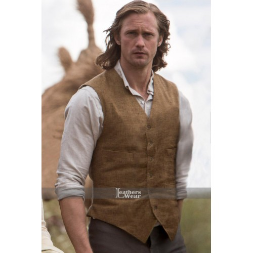 Alexander Skarsgard Legend Of Tarzan Brown Vest