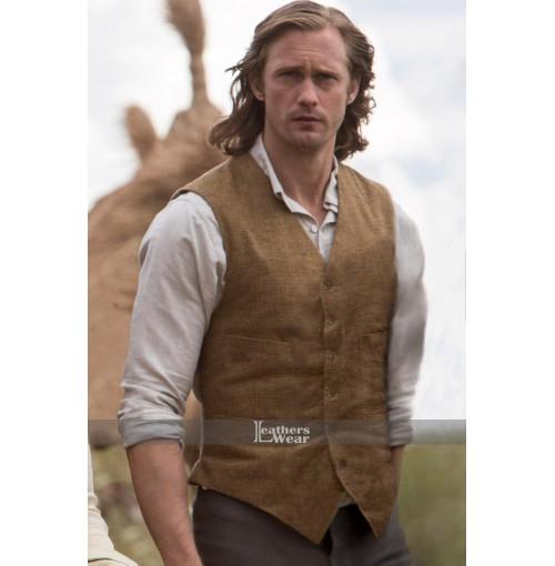 Alexander Skarsgard Legend Of Tarzan Brown Vest