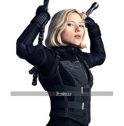 Black Widow Avengers Infinity War Scarlett Johansson Costume Leather Vest