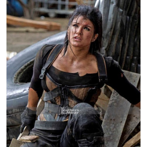 Deadpool Gina Carano (Angel Dust) Brown Vest