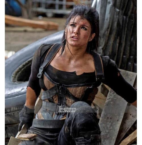 Deadpool Gina Carano (Angel Dust) Brown Vest