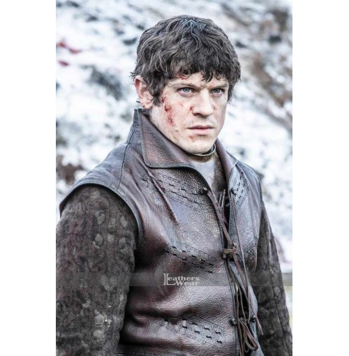 Game of Thrones Iwan Rheon Ramsay Bolton Brown Vest