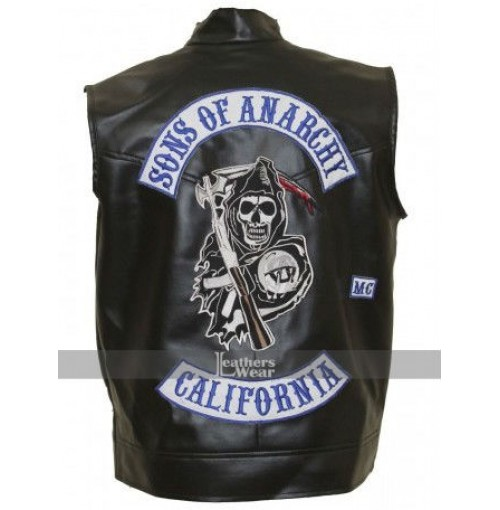 Jax Teller Sons Of Anarchy Biker Vest With Patches Final S7
