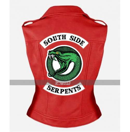 Riverdale Southside Serpents Cheryl Blossom Vest